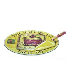Love this Java Time 'Eat It Too' Cake Plate & Server on #zulily! #zulilyfinds