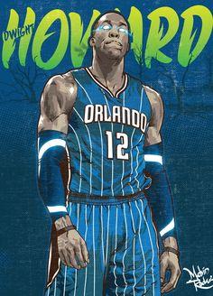 Dwight Howard 'Magic Beast' Illustration