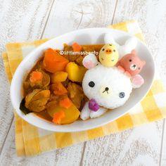 Deco Curry (Little Miss Bento) Kawaii Bento, Cute Bento, Bento Recipes, Baby Food Recipes, Bento Ideas, Cute Food, Good Food, Awesome Food, Sushi Cake
