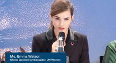 Emma Watson sigue deslumbrando con sus discursos