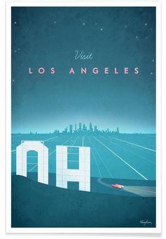 Los Angeles als Premium Poster von Henry Rivers | JUNIQE