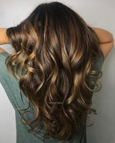 3 Dark Brown Hair With Chunky Golden Highlights - brown hair balayage - Brown Hair Shades, Brown Hair With Blonde Highlights, Brown Hair Balayage, Light Brown Hair, Brown Hair Colors, Bronze Highlights, Highlights Diy, Dark Balayage, Brown With Lowlights