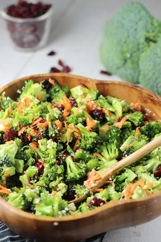 Broccoli Salad recipe- Two unique ways to serve broccoli as a salad. No mayonnaise necessary. | WorthCooking.net