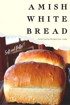Simple Amish White bread recipe never fails! It always rises high with a slightly sweet, tender crumb and soft crust - just the way your kids like it. Easy Amish White bread is a sweet, velvety-textured, homemade bread that's perfect for sandwiches. Sandwich Bread Recipes, Yeast Bread Recipes, Bread Machine Recipes, Sandwich Loaf, Basic White Bread Recipe Bread Machine, Homemade Sandwich Bread, Cornbread Recipes, Jiffy Cornbread, Amish White Bread
