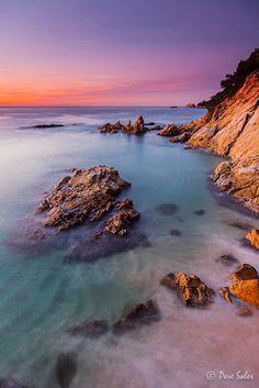 El racó dels meus somnis:Sortida de sol a Cala Sa Boadella - Lloret de Mar Catalonia