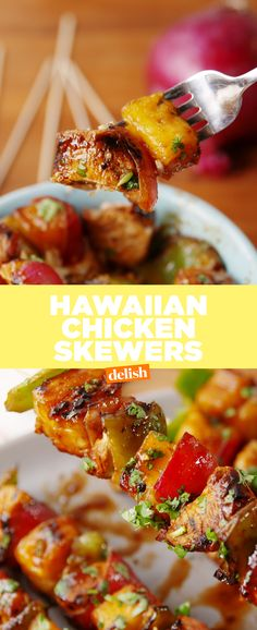 Say aloha to these healthy chicken skewers. Get the recipe from Delish.com.