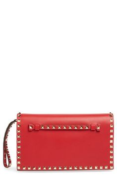 Valentino 'Rockstud' Nappa Leather Flap Clutch available at #Nordstrom