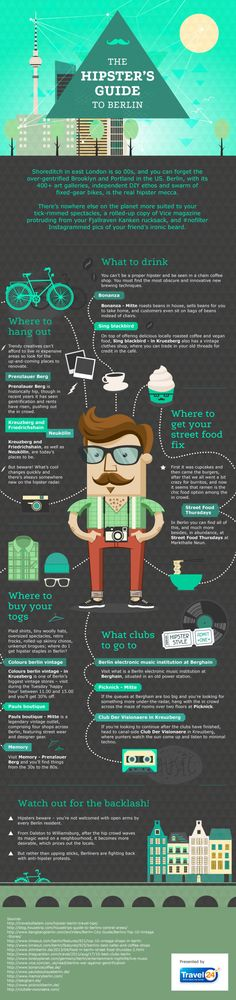 Travel and Trip infographic The Hipster's Guide to Berlin Infographic Description Infographic: The Hipster's Guide to Berlin – Infographic Source – Oh The Places You'll Go, Places To Travel, Places To Visit, Berlin Travel, Germany Travel, Best Places In Berlin, Berlin Ick Liebe Dir, Travel Guides, Travel Tips