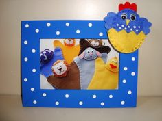 Porta retrato temático da galinha pintadinha. Portfolioideias@gmail.com