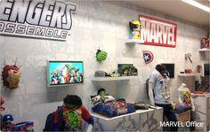 #3DLightFX's 3D Deco lights in the Marvel Office