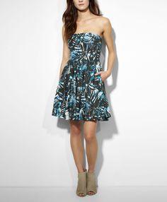 Levi's Strapless Day Dress - Palm Print Blue -