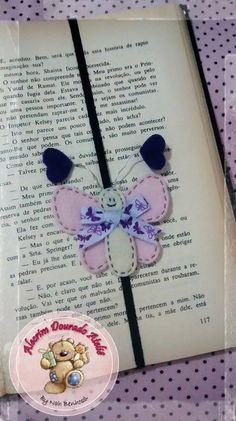 Marcador de páginas #love #felt #feltro #butterfly #borboleta #alecrimdouradoatelie