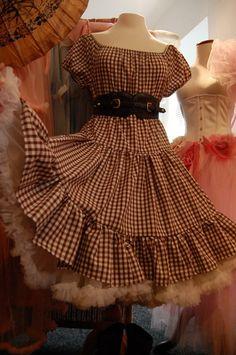 Cowgirl Cute Prairie Peasant Gypsy Gingham Dress BELLE STARR by Lovechild Boudoir. via Etsy.