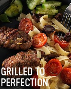 Flavourful kitchen adventures are closer than you think with this Mediterranean Beef Grill with Butter & Herb Pasta Pasta Side Dishes, Pasta Sides, Side Recipes, Easy Dinner Recipes, Easy Meals, Grilling Recipes, Beef Recipes, Herb, Closer