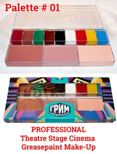 Modern Russian GREASEPAINT-PROFESSIONAL-12-colors-PALETTE-Theatre-Stage-Cinema-MakeUp-FTK with colors similar to c. 1900 Steins kits