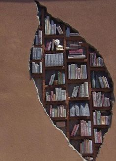 """Creative bookshelf inside the wall/// you know you're a Whovian when instead of 'creative bookshelf', all you can think is """"prisoner zero has escaped"""", and """"there's a crack... A crack in my bedroom wall"""".."""