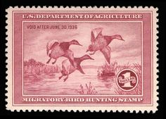Collectors Corner - Scott# RW2, 1935 $1 Rose lake, PSE VF-XF 85J, Mint OGph