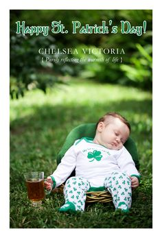 St. Patrick's Day Newborn Shoot by Chelsea Victoria Photography | South Florida Photographer | www.ChelseaVictoria.com