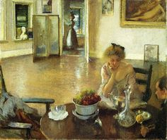 edmund tarbell | Edmund Charles Tarbell >> l déjeuner pièce ( `aka` dans déjeuner ...