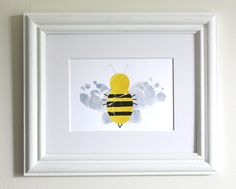 Kids Wall Art - Baby Feet Bumble Bee - .