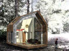 Piccola Casa prefabbricata in legno Dwelle, prezzi tra i 20 e i 40 mila euro - BCasa