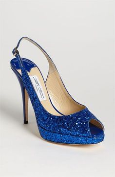 Something Sparkly & Blue: Jimmy Choo 'Clue' Slingback Pump