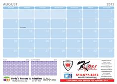 August 2013 2013 Calendar, Fundraising, December 2013, Fundraisers