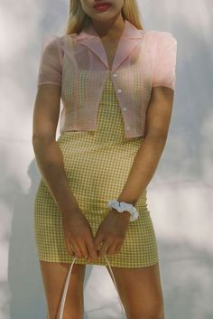 dress Check out UO Mary Textured Gingham Dress from Urban Outfitters Vintage Outfits, Girly Outfits, Classy Outfits, Stylish Outfits, Beautiful Outfits, Fashion Outfits, Fashion Trends, Work Outfits, Summer Outfits