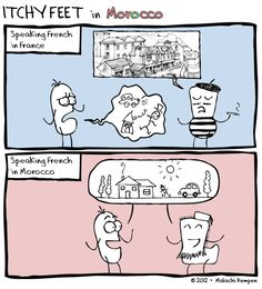 The Secret to Learning French: Avoid the French --- Itchy Feet: A Travel and Language Comic