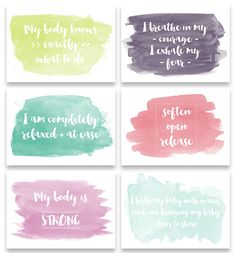 Free Birth Affirmations                                                                                                                                                                                 More