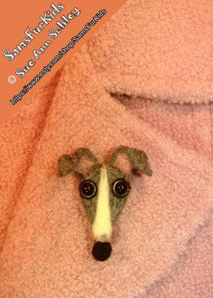 Italian Greyhound Pin Greyhound Brooch Needle by SamsFurKids