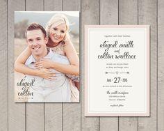 Wedding Invitation Printable DIY by Vintage by vintagesweetdesign