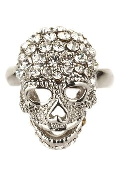 One cannot have too many skull rings: Skull Ring by Meghan LA on @HauteLook