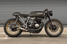 "Cognito Moto's 1974 CB 750, ""Goldie"" - got to see it in person at The Quail Motorcycle Gathering!"