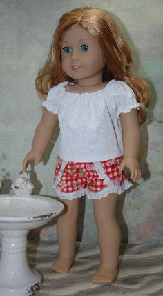 18 inch doll clothes blouse shirt shorts by sheezadoll on Etsy