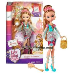 Mattel Year 2015 Ever After High Story Series 11 Inch Doll Set - Daughter of Cinderella ASHLYNN ELLA (CJT36) with Purse, Hairbrush & Doll Stand