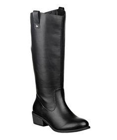 Another great find on #zulily! Black Reggie Wide-Calf Boot #zulilyfinds