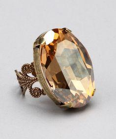 Brass Oval Ring - Liz Palacios