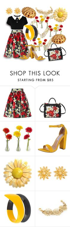"""""""There Was A TV Show Called """"Pushing Daisies"""" -- Obviously She Watched It & Loved It"""" by sharee64 ❤ liked on Polyvore featuring Dolce&Gabbana, Nearly Natural, Steve Madden, Kenzo, Tsumori Chisato and Lulu Frost"""
