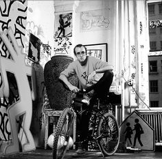 Keith Haring photographed by the infamous Janette Beckman - NYC.