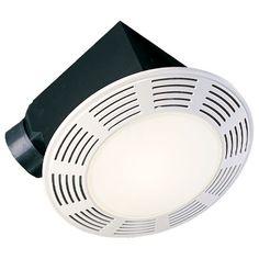 Bathroom Exhaust Fan Light Lens broan-nutone 9093wh bathroom heat / fan / light / night-light with