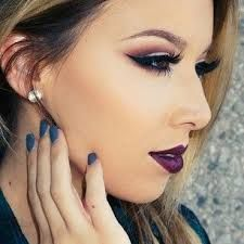 Image result for flawless makeup eyes and lips dark
