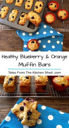 These Healthy Blueberry & Orange Muffin Bars are moist, tender & bursting with juicy blueberries. Made with wholewheat & oats & are sugar free too! Yummy Food, Tasty, Yummy Eats, Delicious Recipes, Healthy Food, Healthy Eating, Healthy Recipes, Donut Recipes, Cake Recipes