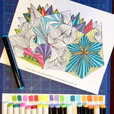 Geo-Cathedral Coloring_Art Page by ColorWorksArtStudio on Etsy