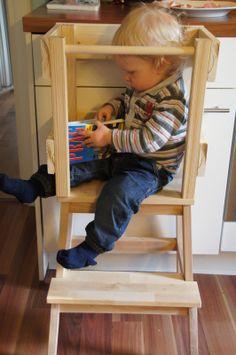 Glücksflügel: Bauanleitung für einen Learning Tower (Lernturm) aus Ikea-Hocker Bekväm