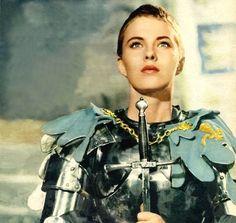 We Had Faces Then — Jean Seberg as Saint Joan (Otto Preminger, Joan D Arc, Saint Joan Of Arc, St Joan, Jean Seberg, Female Armor, Female Knight, Lady Knight, Mia Farrow, Vintage Hollywood