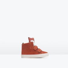 ZARA - KIDS - LEATHER BASKETBALL BOOTS WITH FOX DESIGN