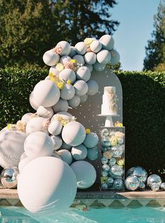 Disco EditorialOne way to make an at-home or micro wedding super unique? Give it a theme! When dreaming up this modern disco wedding, the team at Elite Events were all about finding ways to transform a simple venue with fun details that would surprise guests. Wedding Desserts, Wedding Cakes, Fancy Cats, Floral Photography, Bridal Salon, Wedding Cake Designs, Bridal Beauty, Bridal Accessories, Wedding Planning