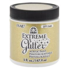 Amazon.com: Folk Art 2771 Folk Artextreme Glitter 5-Ounce Acrylic Paint,     In LOVE with this brand. Awesome sparkle. Dries fast for more coats. Easily clean up if you make mistakes or wish to reuse item later. Works on wood, dough, glass etc