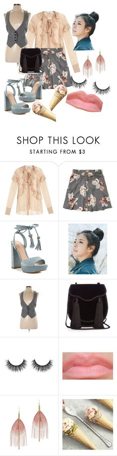 """iceCreamDate"" by dijourflanagan ❤ liked on Polyvore featuring Givenchy, Hollister Co., ALDO, pinkage, LOFT, Yves Saint Laurent and Serefina"